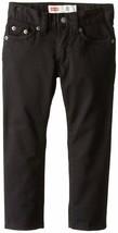 Levis Boys 511 Slim Fit Stretch Adjustable Waist Jeans Black - $19.99