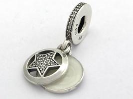 Authentic Pandora Friendship Star Charm, Silver Enamel, 792148EN23, New - $48.44