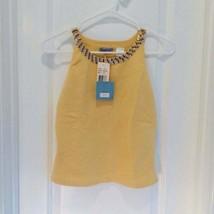 ACROBAT Yellow Silk Knit Top L NWT Orig $116 - $89.00