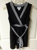 Vintage Motherhood Maternity Black Dress Size Adult Womens Small - $27.65