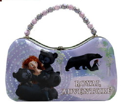 Disney Pixar Movie Brave, Royal Adventure Girls Scoop Purse Carry All Tin Tote - $14.46