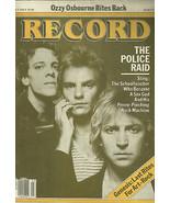 Record Magazine March 1982 Sting The Police Ozzy Osbourne Genesis - $13.38