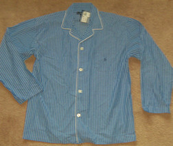 New Mens POLO Ralph Lauren Striped Sleepwear Pajama Shirt Size L MSRP $44  - $25.25