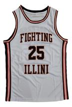 Nick Anderson Fighting Illinois College Basketball Jersey Sewn White Any Size image 1