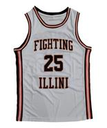 Nick Anderson Fighting Illinois College Basketball Jersey Sewn White Any... - $29.99+