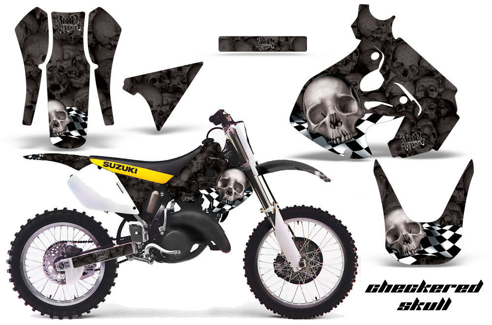 dirt bike graphics kit decal sticker wrap for suzuki rm125