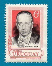 Uruguay Stamp (1969) The 36th Anniversary of the Death of Baltasar Brum  - $2.99