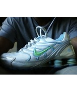 1 of 2 NIKE AIR SHOX NZ  / DUNK NOTE BOOK SIZE 6Y WHITE gray BLUE BLACK - $30.86