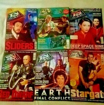 6 Vintage Cult Television Magazines TV ZONE Doctor Who Stargate Red Dwar... - $39.19