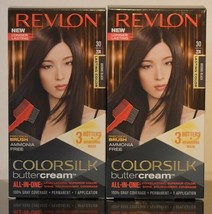 2 Revlon 30 20N Brown Black Ammonia Free Vivid Hair Color Colorsilk Butt... - $21.49