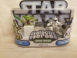 Star Wars Galactic Heroes 2-pack Yoda & Clone Trooper figure New - $5.45