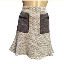 Ann Taylor Tan & Gray Patch Pocket Skirt 6 NEW - £19.25 GBP