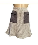 Ann Taylor Tan & Gray Patch Pocket Skirt 6 NEW - $24.95
