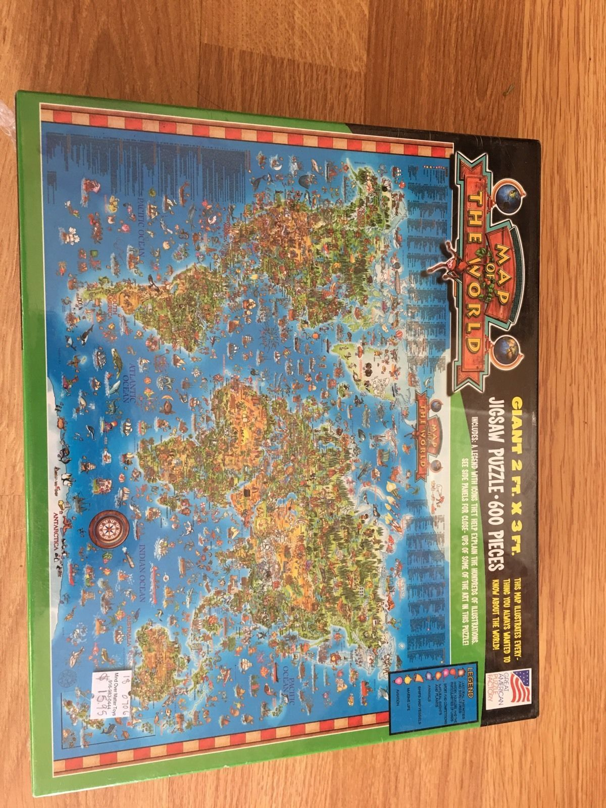 New giant illustrated map of the world and 14 similar items new giant illustrated map of the world jigsaw puzzle 600 pieces 2ft x 3ft sealed gumiabroncs Image collections