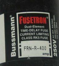 BUSSMANN FUSETRON FRN-R-400 DUAL ELEMENT TIME DELAY CLASS RK5 FUSE FRNR400 image 3