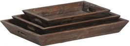 Tray DOVETAIL Set 3 Recycled Fir Wood Reclaimed New DT-1515 - $259.00