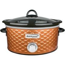 Brentwood Appliances SC-140C 4.5-Quart Scallop Pattern Slow Cooker (Copper) - £47.96 GBP
