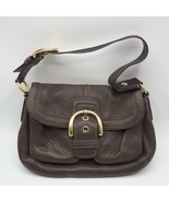 Coach Authentic Soho Buckle Brown Leather Flap Hobo Shoulder F11842 - $41.57