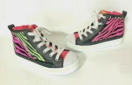 Skechers Girl's Twi-Lites Flip Kicks Neon Muse Hi-Top Sneakers - US Size... - $19.99