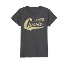 Funny Shirts - Classic Retro Made In 1978 40th Birthday Gifts 40 year ol... - $19.95+