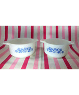 Charming Vintage 1960's Blue Daisy Pyr-O-Rey Dynaware Casserole Dishes •... - $16.00