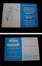 Masters Of The Universe He-Man Magazine Flyer 1987 - $15.00