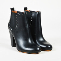 "Givenchy NIB ""Noir"" Black Leather Studded ""Chelsea"" Ankle Boots SZ 37.5 - $765.24"