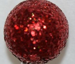 TII Collections Glittery Silver White Red Holiday Round Square Cylinder Spray image 3