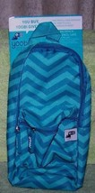 Yoobi Backpack Pencil Case Aqua Chevron New - $8.50