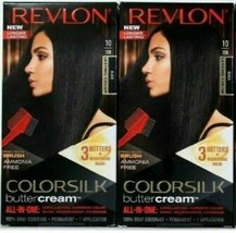 (2) Revlon 10 10N Black Ammonia Free Vivid Hair Color Colorsilk Buttercream - $19.95