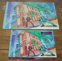 VINTAGE Milton Bradley 1988 THE REAL GHOSTBUSTERS PUZZLE 100 Pieces With... - $24.74