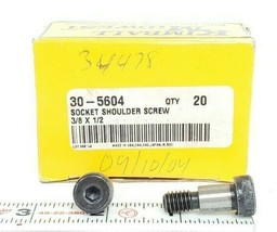 "BOX OF 19 NEW KIMBALL MIDWEST 30-5604 SOCKET SHOULDER SCREWS, 3/8"" X 1/2"" image 1"