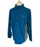 Columbia Men's 1/4 Zip Pullover Mock Neck Lightweight Fleece Blue Shirt XL - $19.79