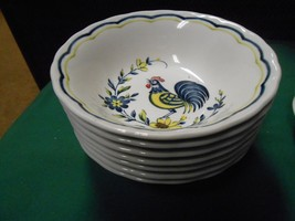 """Outstanding Nikko China """"Rooster"""" ...Set Of 7 Berry Bowls - $24.66"""