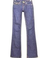 True Religion jeans 24 x 33 Becky slim flare dark low flap pocket W27 US... - $39.59