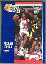 MICHAEL JORDAN 1991 Fleer #220 (League Leader) Ultimate Weapon Chicago B... - $2.18
