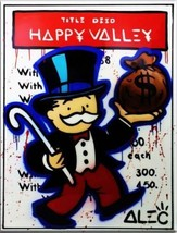 Alec Monopoly Bansky oil Painting on Canvas graffiti art Happy Valley 28... - $29.69