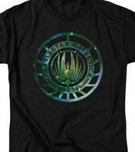 Battlestar Galactica Sci-fi TV series galaxy emblem adult graphic t-shirt BSG250 image 3