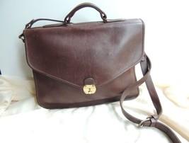 Nice Brown leather vintage messenger briefcase crossbody bag - $100.00