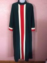 Vanity Fair Women's Velour Robe Housecoat Size 12 Full Length Front Zip ... - $19.75