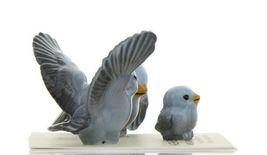 Hagen Renaker Miniature Bluebird Family Ceramic Figurine Set of 3 image 8