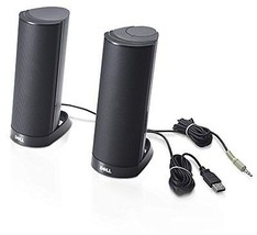 Dell Computer Stereo Speaker Desktop Music Listening USB Black Home Offi... - $16.89