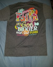 New Kerusso Cherished Girl Christian BIG FAITH Womens T-Shirt - $18.95