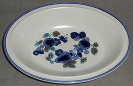1970s ROYAL DOULTON Lambeth Stoneware FESTIVAL PATTERN Oval Vegetable Bowl - $29.69