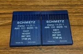 SCHMETZ DBX1 287 WH CANU:14:25 1 NM:100 SIZE16 INDUSTRIAL SEWING MACHINE... - $25.80
