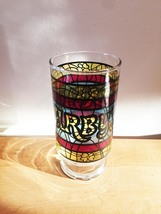 Vintage 70s Arby's Stained Glass Promotional Collectible Tumbler Glass image 1