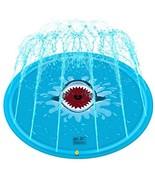 Psampa Sprinkler pad & Splash Play Mat Children's Outdoor Inflatable Wat... - $20.02