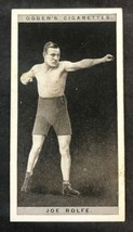 1928 Ogden's Pugilists in Action Tobacco #36 Joe Rolfe Boxing Card  (A) - $4.90