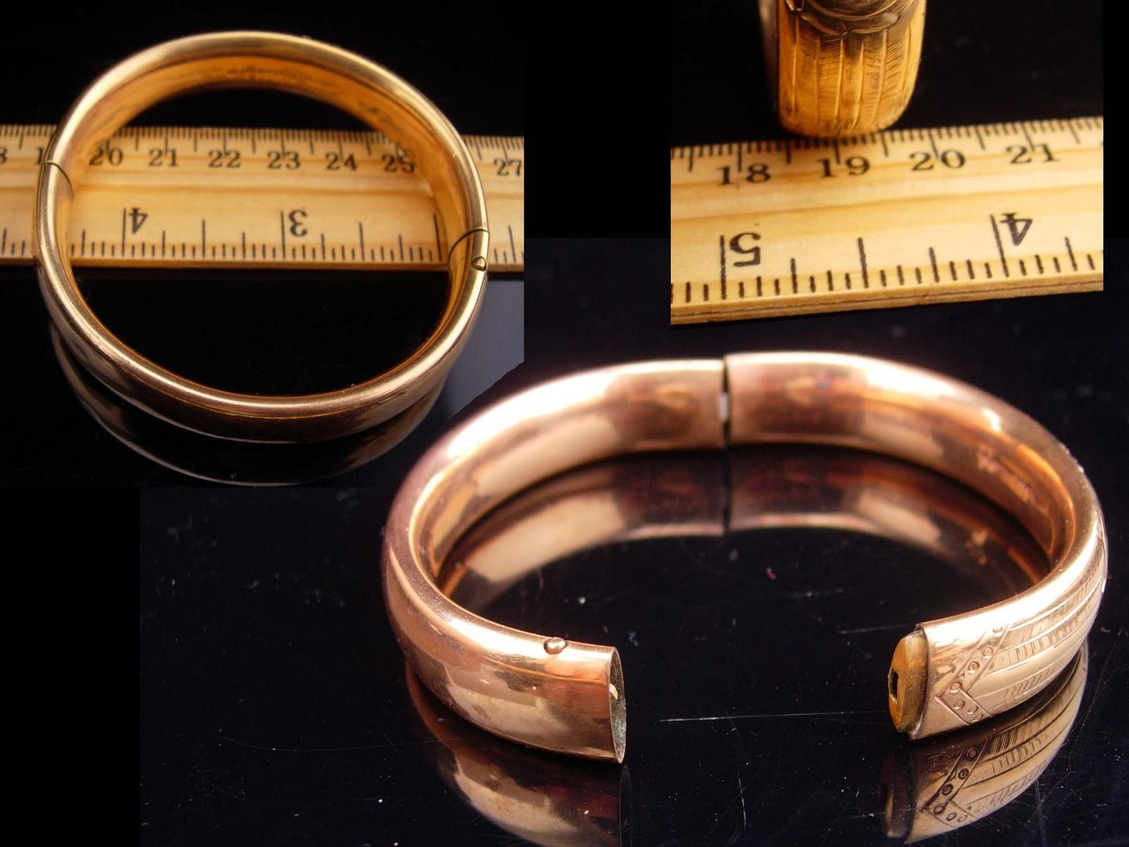 1900s Victorian bracelet / rose gold filled bracelet / antique bracelet / Hinged