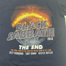 Black Sabbath The End World Tour T-Shirt Ozzy Osbourne 2016 Double Sided... - $23.38